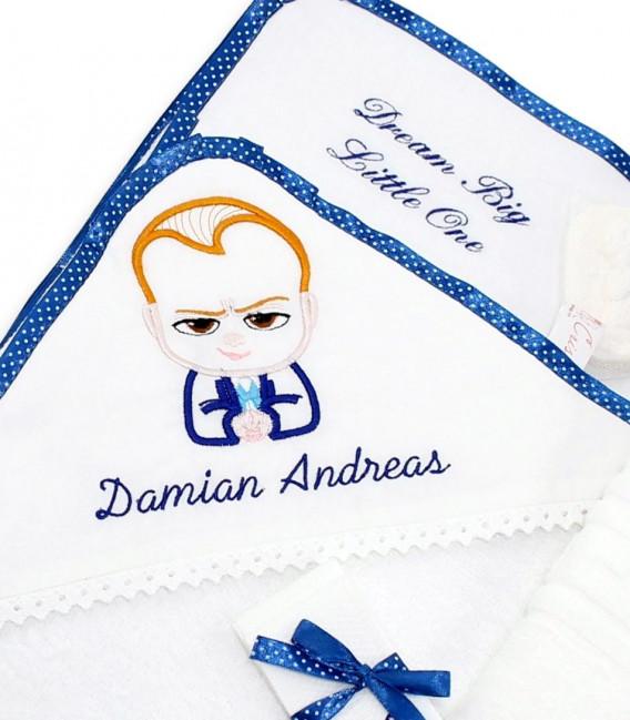 Trusou personalizat pentru botez Baby Boss