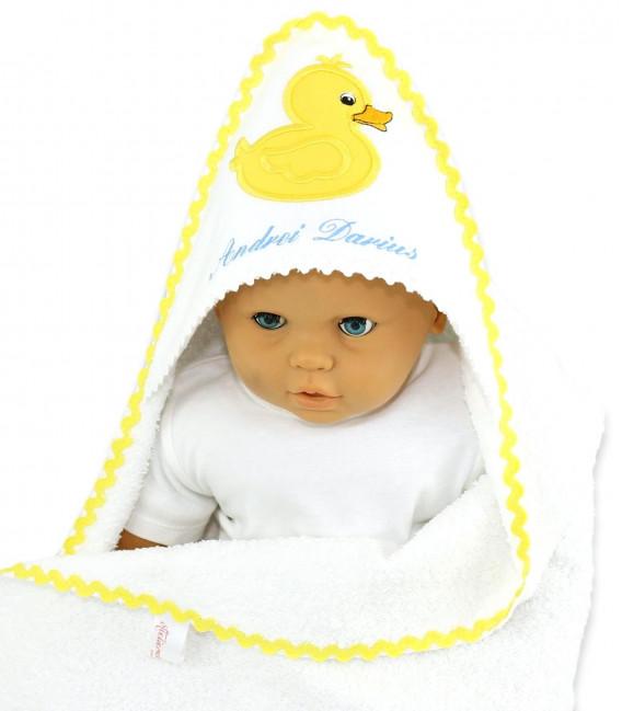 Trusou botez personalizat set bebelus si preot ratusca Mac