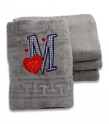 Prosop baie pentru barbati personalizat cu monograme