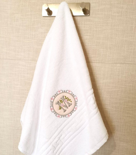 Prosop  personalizat pentru baie sau dus alb