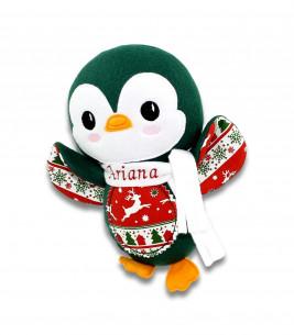Jucarii personalizate bebelusi - Jucarie personalizata cadou Craciun pinguin