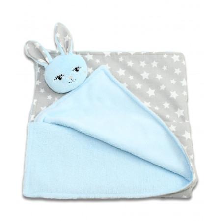 Jucarii personalizate bebelusi - Paturica cocolino bebe cu jucarie personalizata