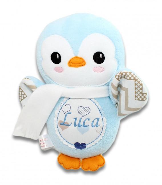 Jucarii personalizate bebelusi - Jucărie personalizată pinguin Luca