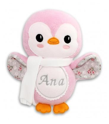 Jucarii personalizate bebelusi - Pinguin roz personalizat