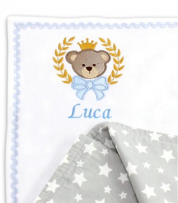 Jucarii personalizate bebelusi - Păturică cu 2 fețe , personalizată