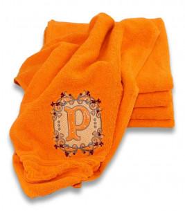 More about Prosop personalizat portocaliu cu monograma eleganta
