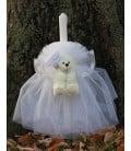 Lumanare botez personalizata ursulet cu inimioara producator Atelierele Cris  179,00Lei