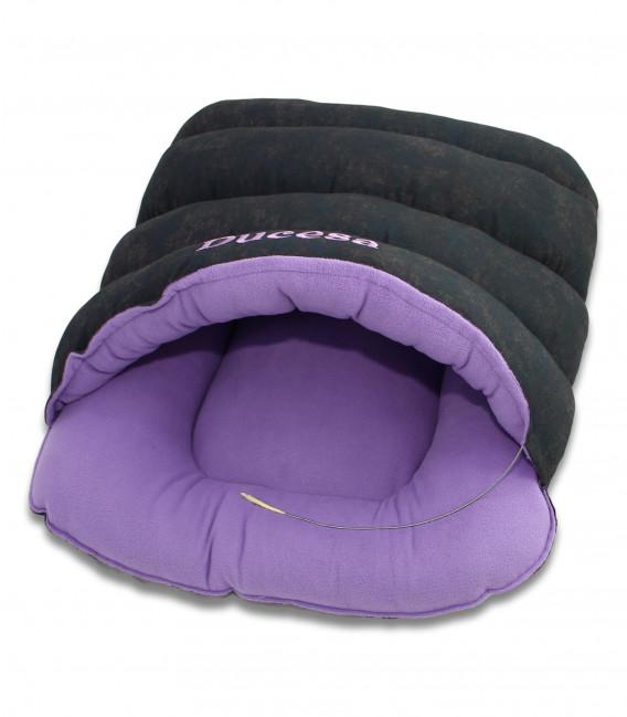 Culcus pisica  pentru interior si exterior model Ducesa culori roz si gri inchis