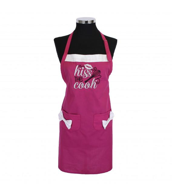 Sort bucatarie femei personalizat cu mesaj Kiss The Cook