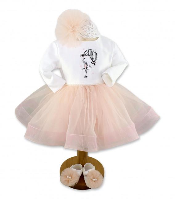 Set botez complet balerina pentru fetite personalizat  - Trusouri  Botez Complete