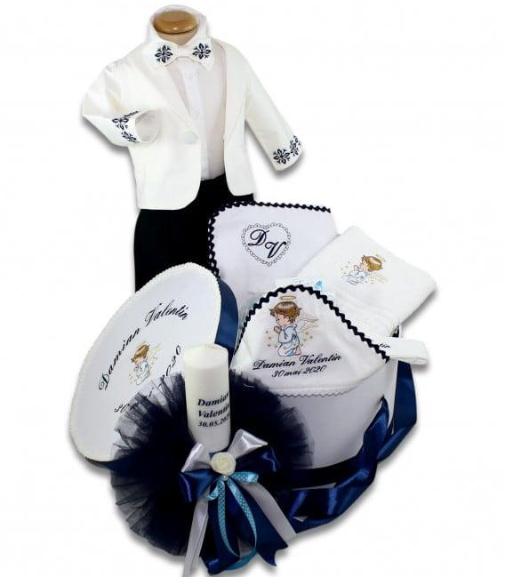 Set botez complet ingerasul Rafael personalizat  - Trusouri  Botez Complete