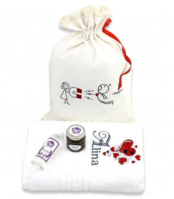 Cadou personalizat pentru iubita set ingrijire fata