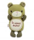 Jucarie personalizata ursulet  cu nume si mesaj