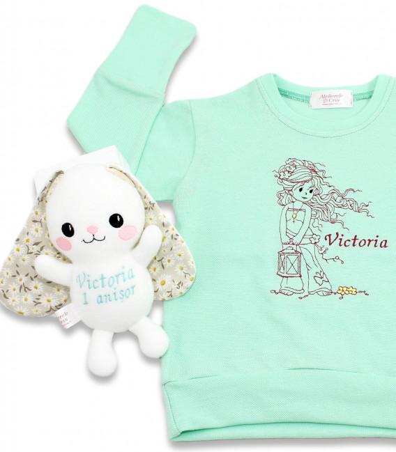Set cadou aniversare 1 an personalizat pentru fetite