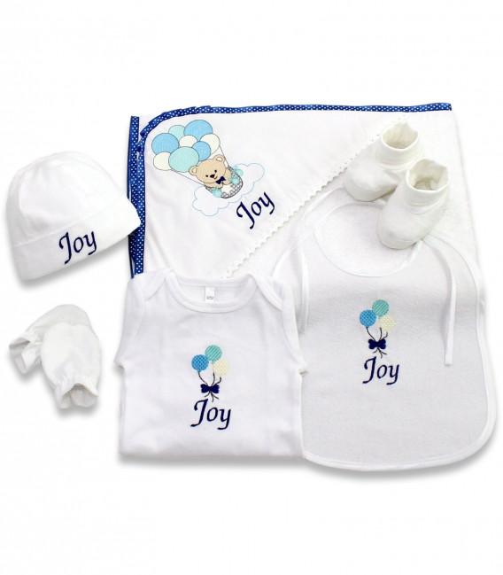Set cadou nou nascut baiat personalizat Joy