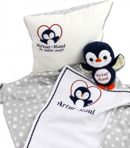 More about Set cadou personalizat 4 piese pentru baieti cu pinguin