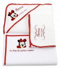 Set botez cu Minnie mouse rosu personalizat
