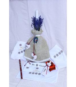 More about Lumanare botez traditionala personalizata cu lavanda