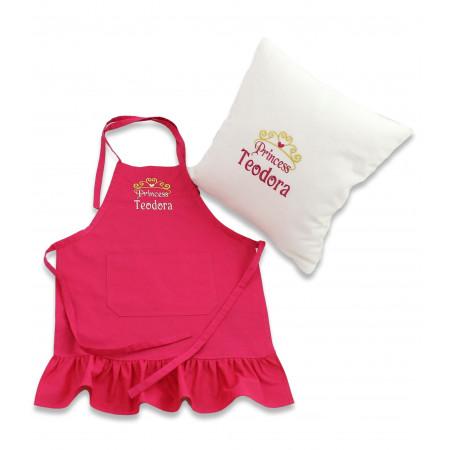 Set cadou personalizat pentru fetite sort si pernuta