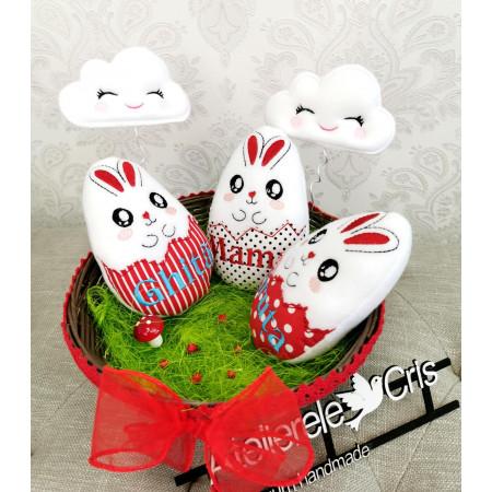 Decoratiuni de Paște coșulet personalizat pentru familie