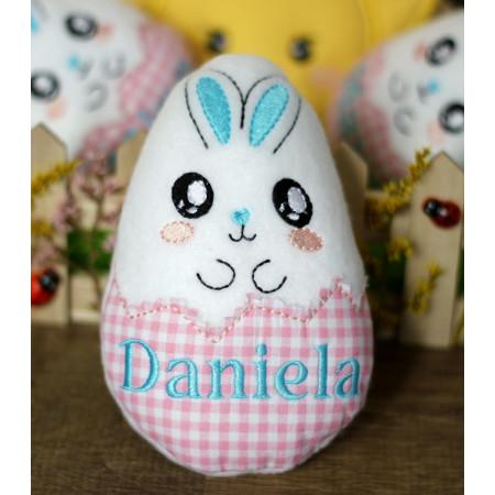 Ou de Paste textil personalizat cu nume Daniela