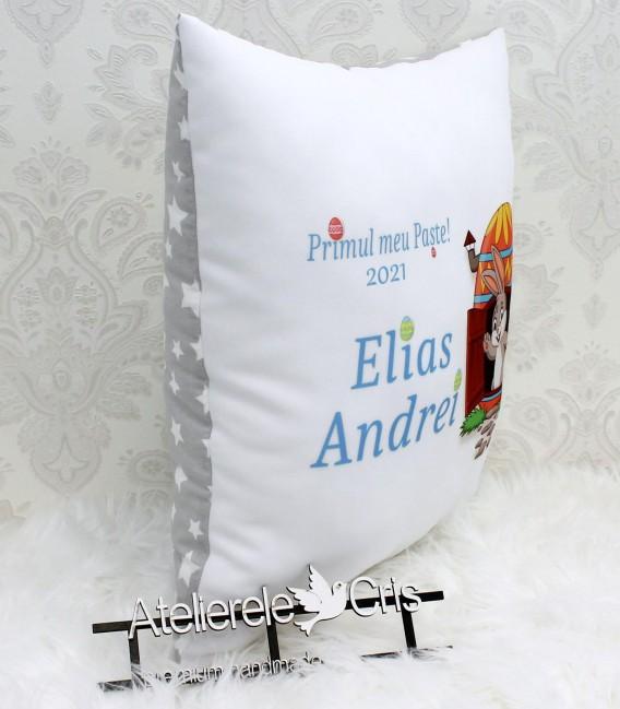 Pernuta cadou de Paste pentru bebelusi cu iepuras si mesaj