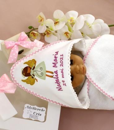 Trusou botez personalizat fete ingeras 9 piese