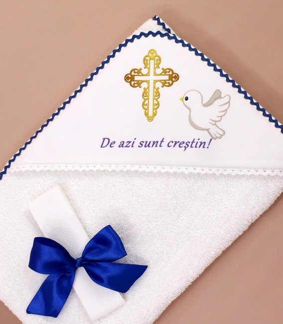 Trusou botez baieti cruce si porumbel livrare rapida 9 piese