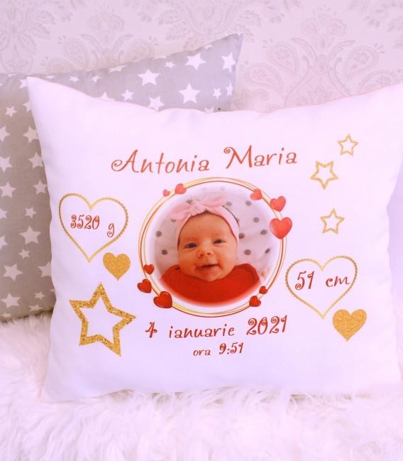 Perne personalizate cu poza si datele de nastere Antonia