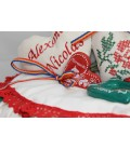 Lumanare de Botez Traditionala Broderie Floare