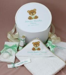 More about Trusou botez ursulet  personalizat si cutie rotunda inclusa Ianis