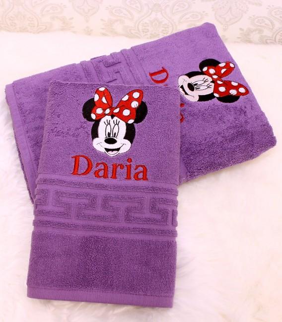 Prosop personalizat cu nume si Minnie Mouse