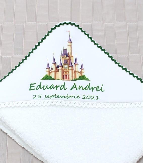 Trusou botez personalizat print verde smarald set complet