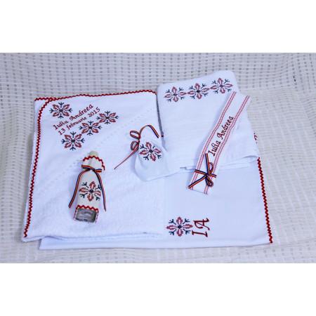 Trusouri botez traditionale - Trusou botez traditional personalizat Stelute