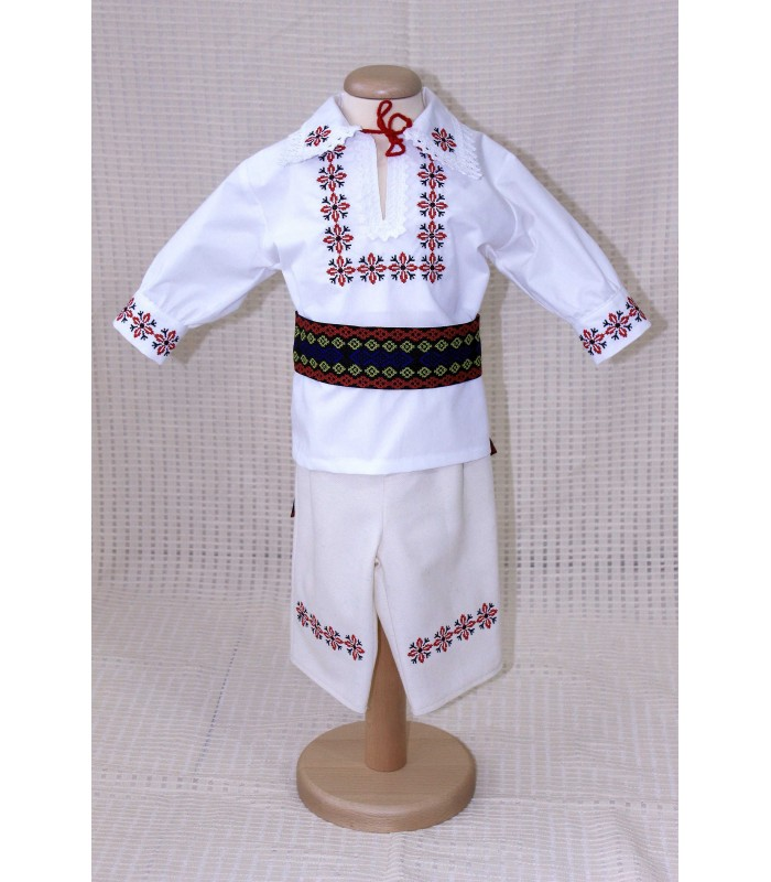 Costum botez traditional Brodat Stelute