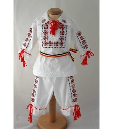 Costum popular botez Stelute Rosu Negru