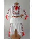 Costum botez traditional Stelute rosu Negru