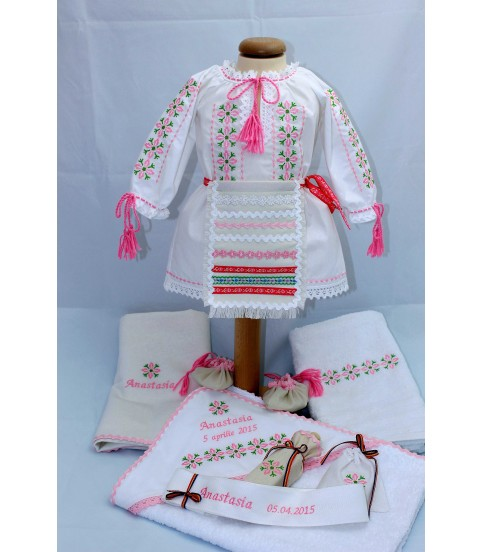 Costum botez traditional fetite