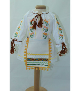 Costum traditional fete botez Iasmina
