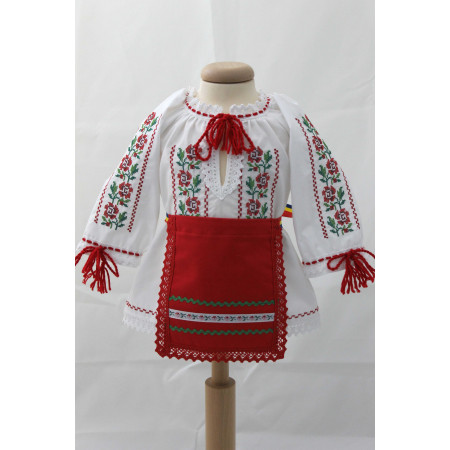 Costumas traditional fete botez Ilinca