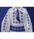 Costumas botez popular baieti albastru producator Atelierele Cris  269,00Lei