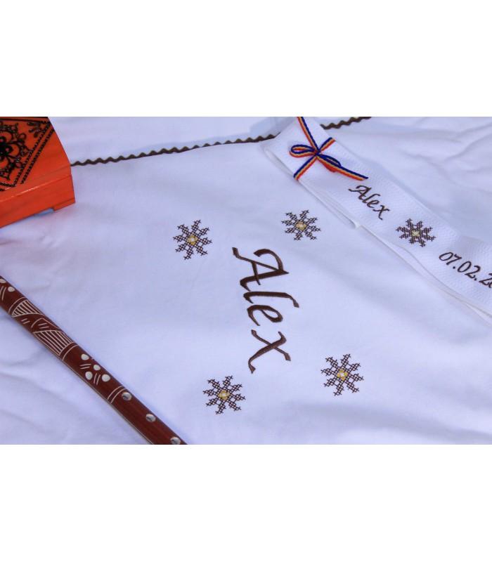 Paturica Botez Brodata Traditionala Stelute