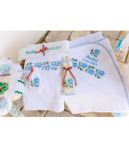 Trusouri botez traditionale - Trusou traditional broderie floare