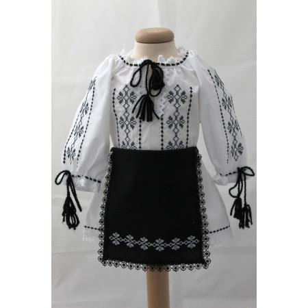 Costum traditional fete botez Irina