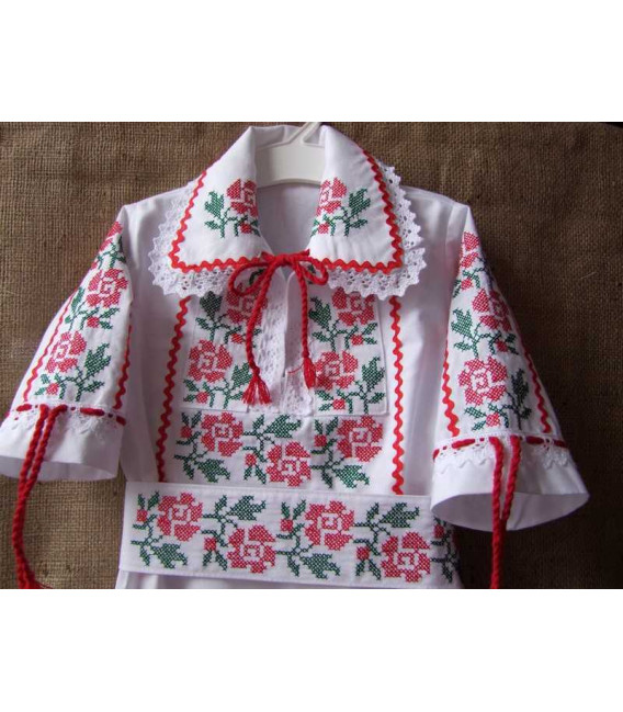Trusouri botez traditionale - Trusou botez traditional complet broderie floare