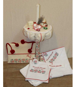 More about Trusou botez traditional complet  broderie floare