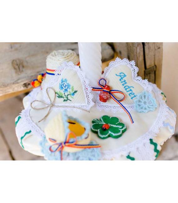 Lumanare botez traditionala Floria