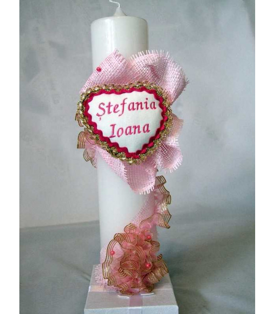 Lumanare botez personalizata Stefania