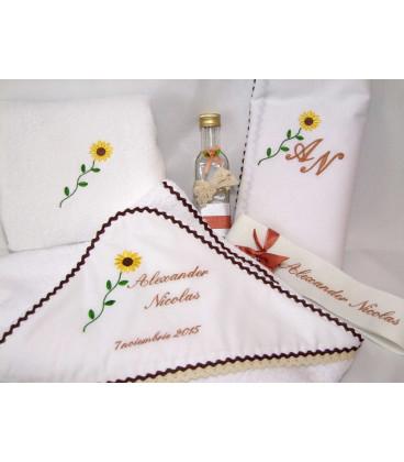 Trusou botez personalizat floarea soarelui