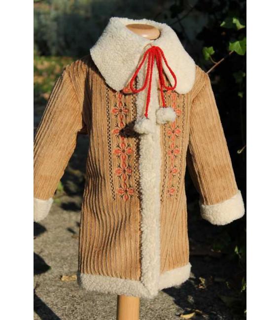 Palton traditional botez fetite stelute
